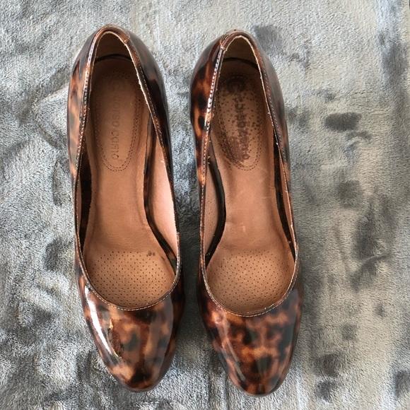 880b56c3d35 Corso Como Shoes - Animal Print Patent Leather Pumps size 8M